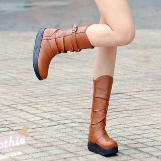 Belted Mid-calf Boots