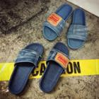 Denim Slippers