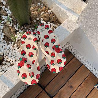 Fruit Print Flip Flops