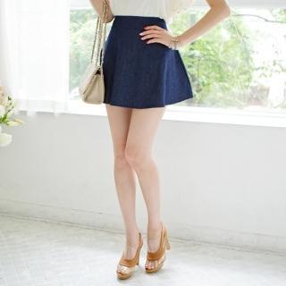 Zip-back A-line Miniskirt