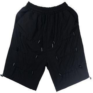 Drawcord Knee-length Shorts
