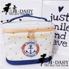 Embroidered Anchor Makeup Pouch