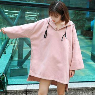 Hplain Hooded Dress