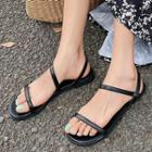 Ankles-strap Flat Sandals