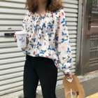 Floral Print Blouse As Shown In Figure - One Size