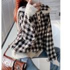 Knit Houndstooth Knit Top