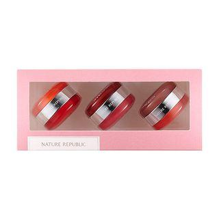 Nature Republic - Dual Lip & Cheek Macaroon Kit 3pcs 10g(5g + 5g) X 3pcs