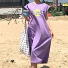 Barbie Printed Sleeveless Midi Dress