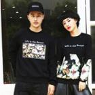 Couple Matching Floral Print Pullover