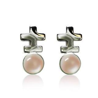 Mother Of Pearl - Pink Earrings