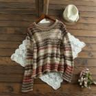Striped Sweater Coffee - One Size
