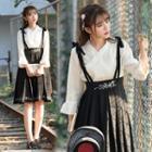 3/4-sleeve Hanfu Top/suspender Pleated Skirt