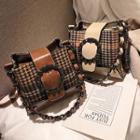 Pattern Tweed Bucket Bag