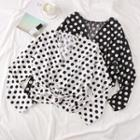 Polka-dot Knotted Top