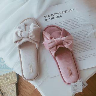 Velvet Bow Slippers