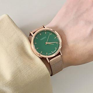 Faux Leather / Alloy Strap Watch