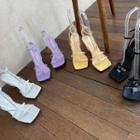 Square-neck Strappy Sandals