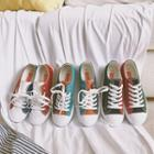 Canvas Color-block Sneakers