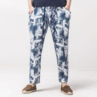 Straight-fit Printed Pants
