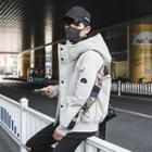 Camo Panel Hooded Down Jacket