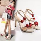 Strawberry Platform Wedge Sandals / High-heel Sandals
