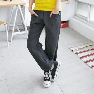 Drawstring Plain Pants