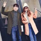 Couple Matching Plain Notch Lapel Long Coat