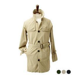 Single-breasted Trench Coat With Sash