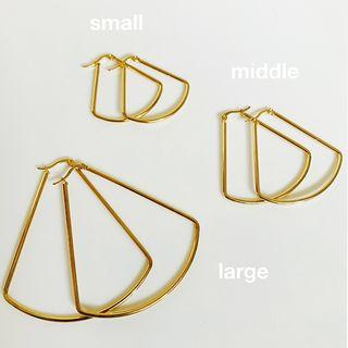 Alloy Fan Earring