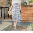 Floral Chiffon Midi A-line Skirt