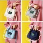 Lettering Applique Shoulder Bag