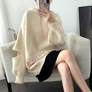 Cutout Oversize Hooded Sweater