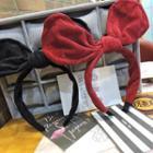 Corduroy Bow Accent Headband