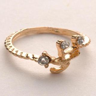 Diamond Note Ring - Gold Gold - One Size