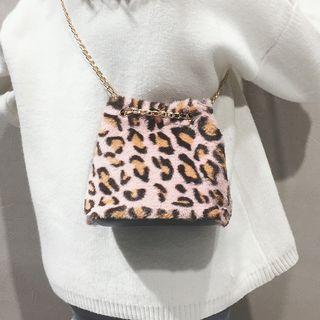 Leopard Print Bucket Bag