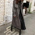 Double-flap Belted Trench Coat