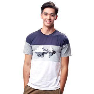 Colorblock Printed T-shirt