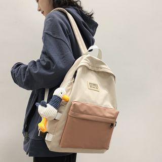 Duck Charm Two-tone Nylon Backpack