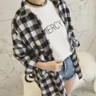 Long-sleeve Gingham Casual Shirt