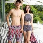 Couple Matching Set: Tankini + Beach Midi Skirt / Swim Shorts