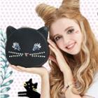 Embellished Cat Crossbody Bag
