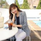 Linen Blend Stripe Blazer