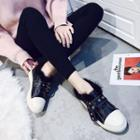 Furry Trim Sneakers