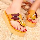 Butterfly Applique Platform Sandals