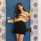 Striped Lightweight Knit Cardigan