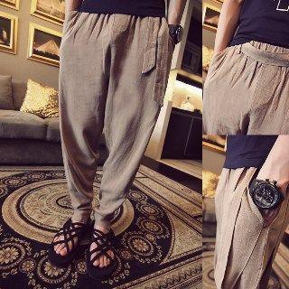Tie-waist Baggy Pants