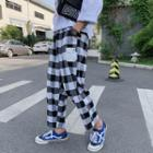 Gingham Straight Fit Pants