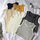 Plain/striped Tank Top