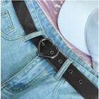 Heart Faux-leather Belt Black - One Size