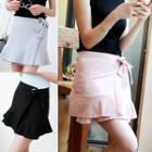Plain Bow Mini Skirt